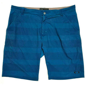 Oakley Mens Blue Stance Two Blue Shorts Size 38